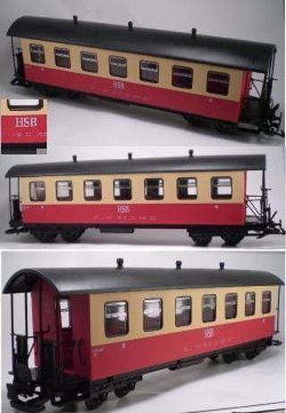 NEWQIDA TOYS FACTORY Passenger Coach Red Hsb Harz G, used for sale  Delivered anywhere in USA