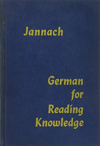 German for Reading Knowledge -  AMERICAN BOOK COMPANY