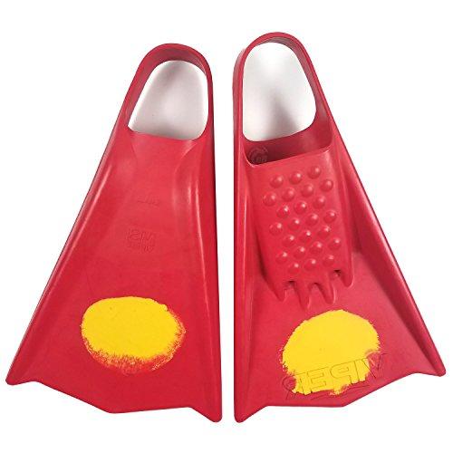 Mike Stewart Viper Swimfins - Red/Yellow - XL Viper Surf Fins