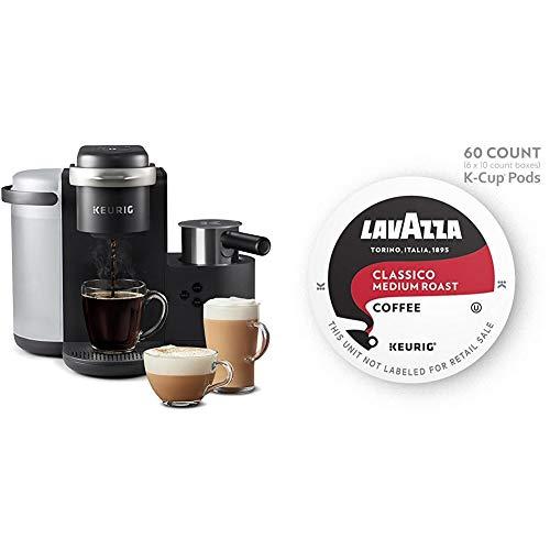 Keurig K-Cafe Single Serve K-Cup Pod Coffee, Latte and Cappuccino, K-Café & Lavazza Classic , 60 count