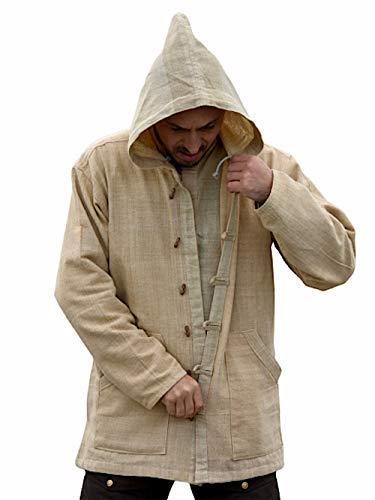 Dress for Earth Hemp Jacket Handwoven Hemp Hoodie Sustainable Outerwear -