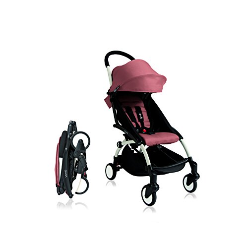 BabyZen 2016 Yoyo+ Stroller Bundle - White Frame + Color Pack (Ginger) by Baby Zen