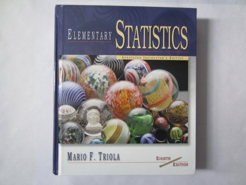 Elementary Statistics Annotated Instructor's Edition