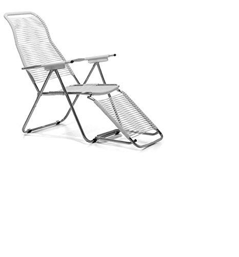Amazon.de: jan kurtz fiam spaghetti chair weiss sonnen liegestuhl ...