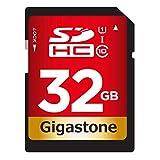 Gigastone 32GB SDHC UHS-I U1 Class 10 Up to 80MB/s, for DSLR Camcorder Camera Video Recording Photo Print PC Mac, Compatible with Canon Nikon Sony Pentax Kodak Olympus Panasonic