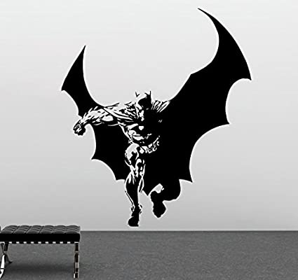 Batman Wall Sticker Dark Knight Vinyl Stencil Superhero Childrenu0027s Room  Decor Comics Wall Art (9bn