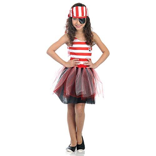 Piratinha Dress Up Pop Infantil Sulamericana Fantasias M 6/8 Anos
