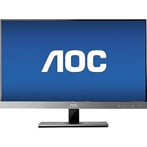 AOC - 27 Widescreen Flat-panel IPS LED Hd Monitor - Piano Black/silver