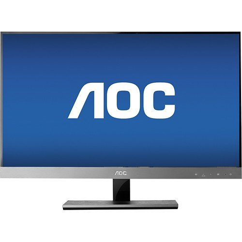Price comparison product image AOC - 27 Widescreen Flat-panel IPS LED Hd Monitor - Piano Black/silver