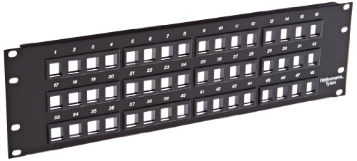 Hellermann Tyton P108-48-MOD Modular Patch Panel 48 Port, 3U, Steel, Black