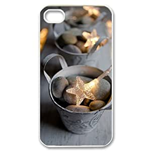Customized Cover Case with Hard Shell Protection for Iphone 4,4S case with Bright stars lxa#462324