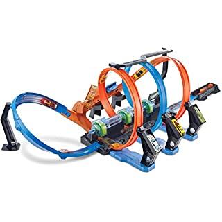 Hot Wheels Corkscrew Crash Track with Motorized Boosters