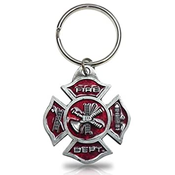 Amazon.com: Fire Department Maltese Emblema de la Cruz Clave ...
