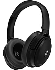 TaoTronics Active Noise Cancelling Bluetooth Headphones Wireless Over Ear Headset Foldable Earphones with Powerful Bass (Dual 40 mm Drivers,45 Hour Playtime, CVC 6.0 Noise-Cancelling Built-in Mic)