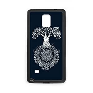 Samsung Galaxy Note 4 Cell Phone Case Black Yggdrasil Tree of Life ewgl