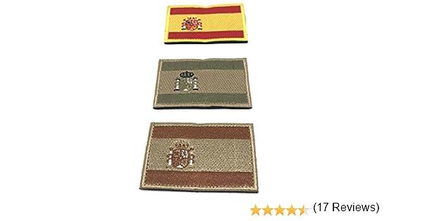 Kit 3 x Parches España Velcro x España Bandera Táctico bandera con ...