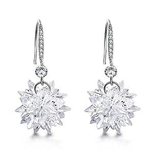 Mocalady Jewelers Dangle Earrings Crystal Cubic Zirconia/Winter Snowflake Drop Earrings Fashion Jewelry