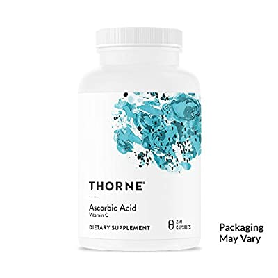 Thorne Research - Ascorbic Acid (One Gram) - Vitamin C Supplement for Antioxidant Support and Healthy Immune Function - NSF Certified for Sport - 250 Capsules