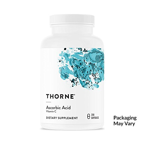 Thorne Research - Ascorbic Acid (One Gram) - Vitamin C Supplement for Antioxidant Support and Healthy Immune Function - NSF Certified for Sport - 250 (Ascorbic Acid Capsules)