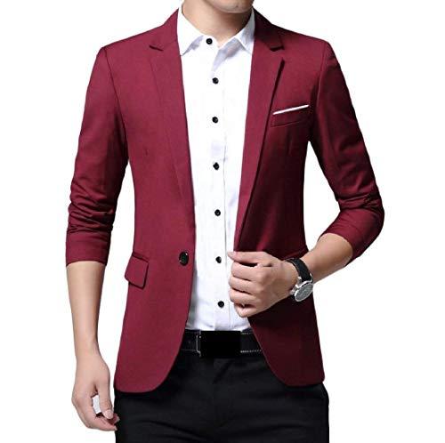 Giacche Business Tempo Winered Con Classiche Blazer Fashion Da Libero Ragazzi Monopetto Slim Casual Per Completo Fit Il Laisla Uomo qU1F6wnwP5