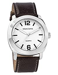 Marciano Men's | Black Classic Everyday Wear PU-Leather Band Watch | MA1045