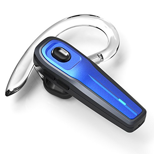 eGe RR-12-27-1 Bluetooth Headset, Wireless Earpiece w/ Mute Switch and Noise Reduction Mic for Office/Driving Call
