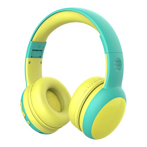 gorsun Bluetooth Kids Headphones with 85dB Limited Volume, Children's Wireless Bluetooth Headphones, Foldable Bluetooth Stereo Over-Ear Kids headsets – Green