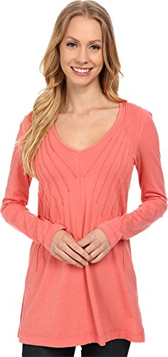 mod-o-doc-womens-pintuck-v-neck-tunic-cafe-coral-x-large