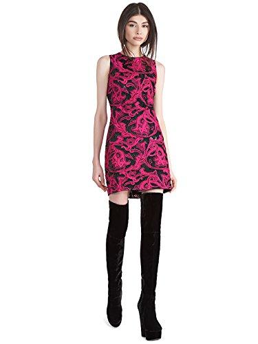 alice + olivia Nat Embellished Mini Dress - Black Fuchsia - - Nat Olivia And