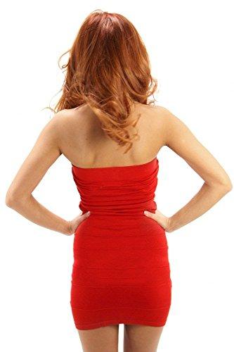 Super schönes Schulterfreies Stretchkleid Rot
