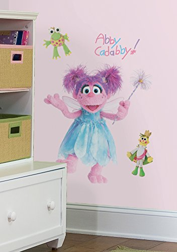 Sesame Street - Abby Peel & Stick Giant Wall Decal 18 x 40in