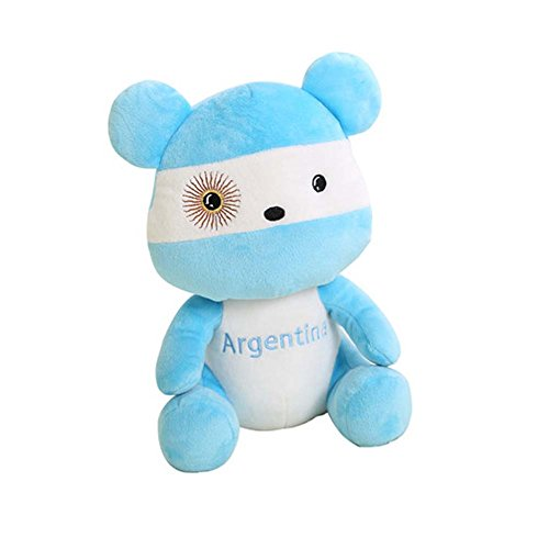 Argentina Doll - George Jimmy Lovely Bear Plush Toy Souvenir National Flag Dolls, Argentina