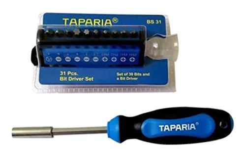 Taparia BS31 Steel Bit Driver Set (Multicolour, 31-Pieces) 1