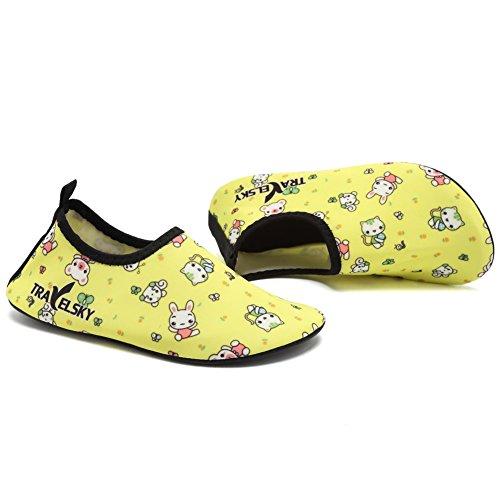 Cior Mannen Vrouwen En Kinderen Water Schoenen Op Blote Voeten Huid Schoenen Antislip Voor Strand Zwembad Surf Zwemmen Oefening Sneaker X.yellow