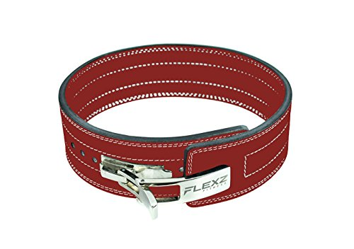 Belt Buckle Baseball Buckles (Lever Buckle Powerlifting Belt 10mm Weight Lifting Red X Large)