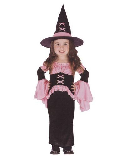 Pretty Pink Witch Toddler Costume - Toddler Large]()