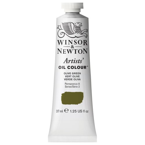Olive Paint - Winsor & Newton Artists Oil Color Paint Tube, 37ml, Olive Green