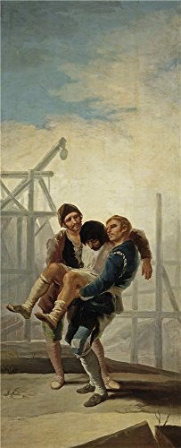 Oil Painting 'Goya Y Lucientes Francisco De The Injured Mason 1786 87 ' Printing On Perfect Effect Canvas , 8 X 20 Inch / 20 X 50 Cm ,the Best Basement Decor And Home Artwork And Gifts Is This Cheap But High Quality Art Decorative Art Decorative Canvas Prints