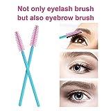 Cuttte 100pcs Disposable Mascara Brushes Wands
