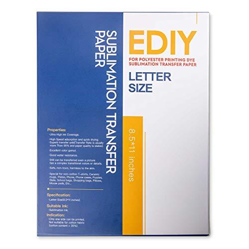 Sublimation Paper Heat Transfer Sheets - EDIY 8.5