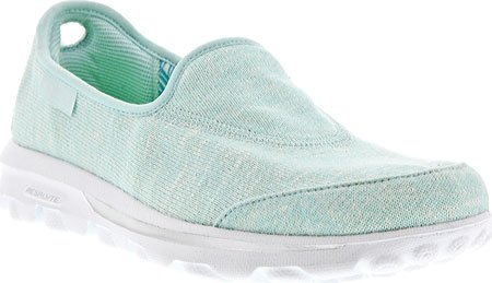 Skechers Womens Slip On Snapshot Mint GoWalk w1vwZCqxR