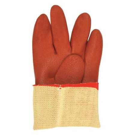 Chemical Resistant Gloves, PVC, 2XL, 12''L