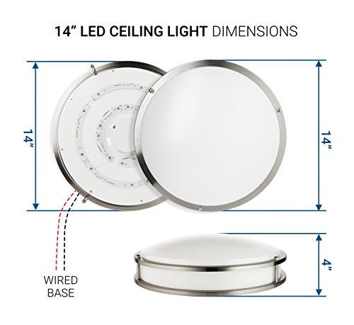 Hyperikon LED Flush Mount Ceiling Light, 14'', 100W equivalent, 1980lm, 4000K (Daylight Glow), 120V, 14-Inch, Dimmable by Hyperikon (Image #6)