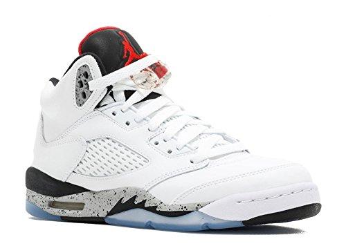 Nike Air Jordan 5 Retro (gs) Vit Cement - 440.888-104 - Storlek 3,5