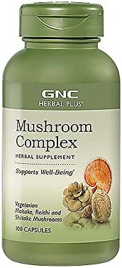 GNC Herbal Plus Mushroom Complex, 100 Capsules, Supports Well-Being
