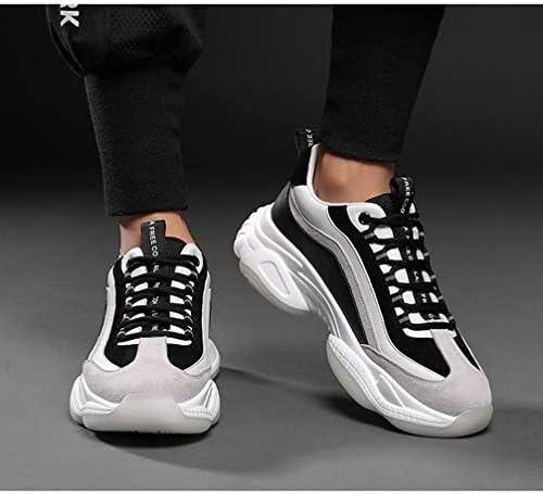 厚底 スポーツシューズ ランニングシューズ メンズ バイカラー 厚底スニーカー レースアップ カジュアルシューズ かっこいい おしゃれ 歩きやすい 衝撃吸収 低反発 コンフォート 運動靴 ウォーキングシューズ