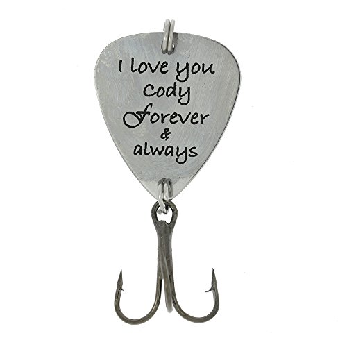 Custom Personalized Hook Fishing Lure Gift - I love you Forever and Always