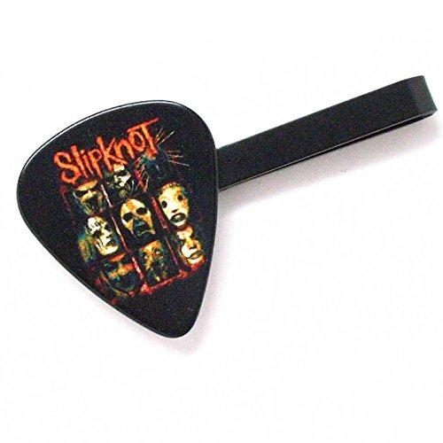 Slipknot Tie Bar Clip Guitar Pick Slip Knot Heavy Metal White Steel Music