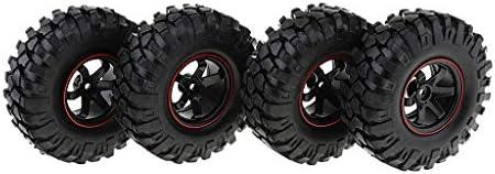 Baoblaze RCカータイヤ ゴム製 1/10 Axial SCX10 D90 RCロッククローラートラック用 RCカーアク