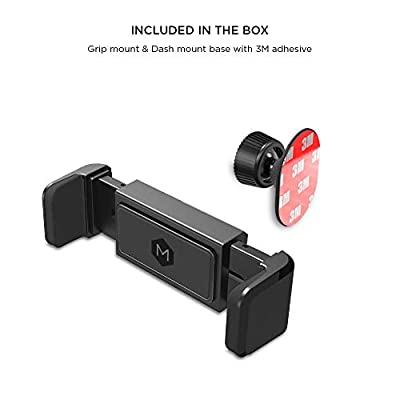 One Touch Grip Phone Mount – Car Dash Mount Phone Holder | Quick Grip Mobile Phone Holder | Compatible with iPhone Xs Max XR X 8 7+ Samsung S9 S8+ Note 9 8 - by Mighty Mount
